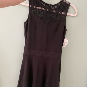 Dresses & Skirts - Black dress with lace on the top